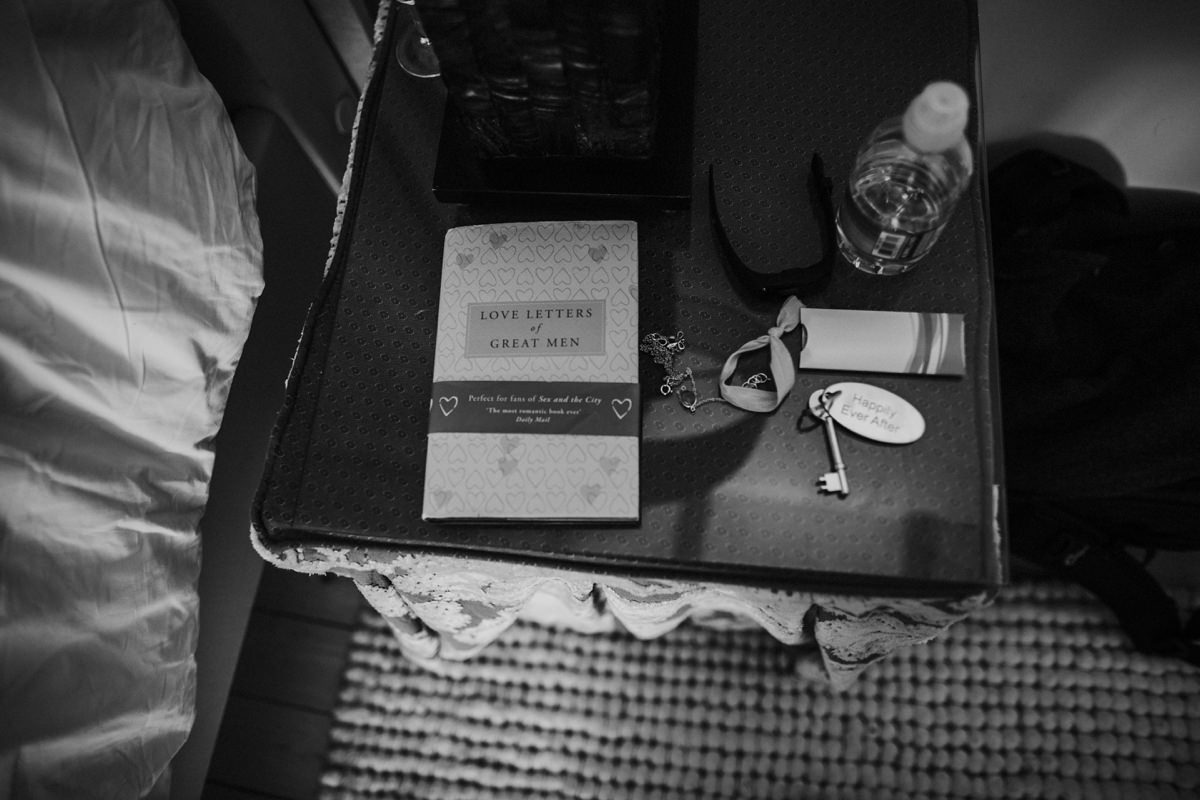love letters of great men book on nightstand at achnagairn house
