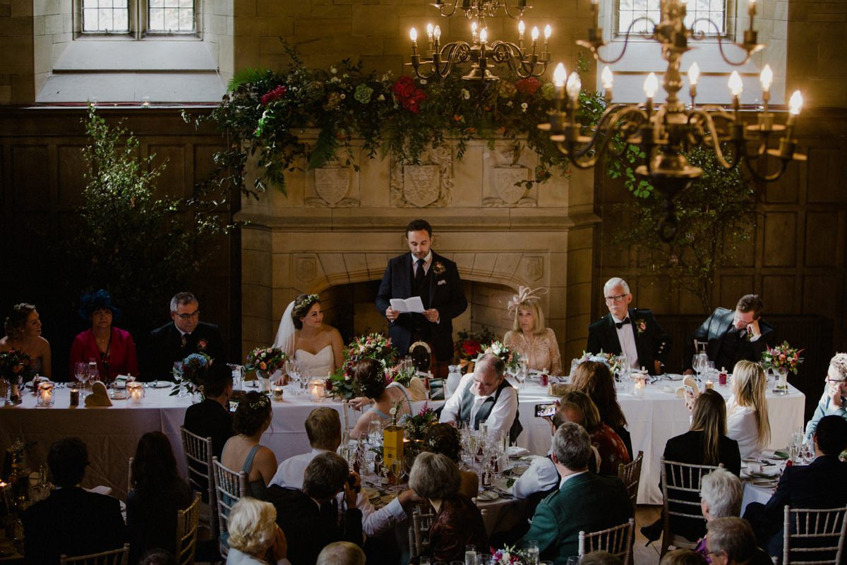 image of top table and groom doing his speech
