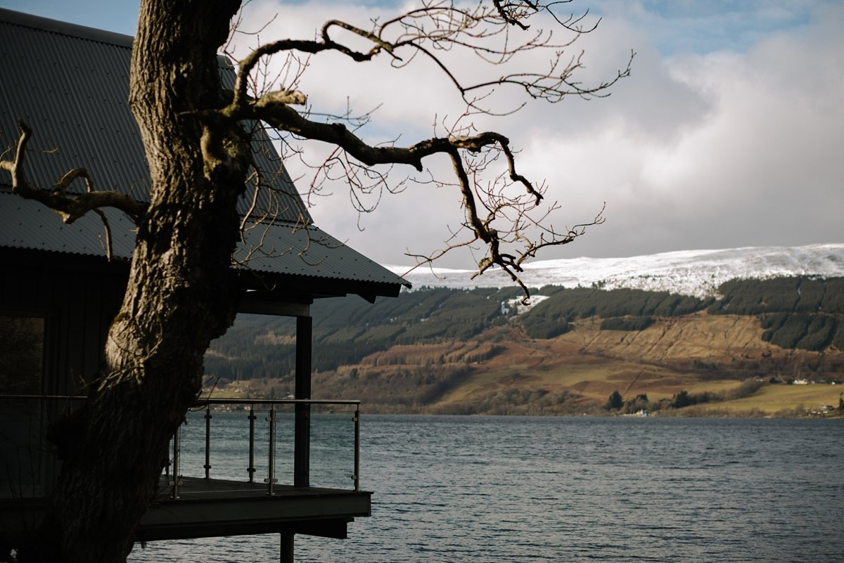 views at the Oyster Boathouse on Loch Tay