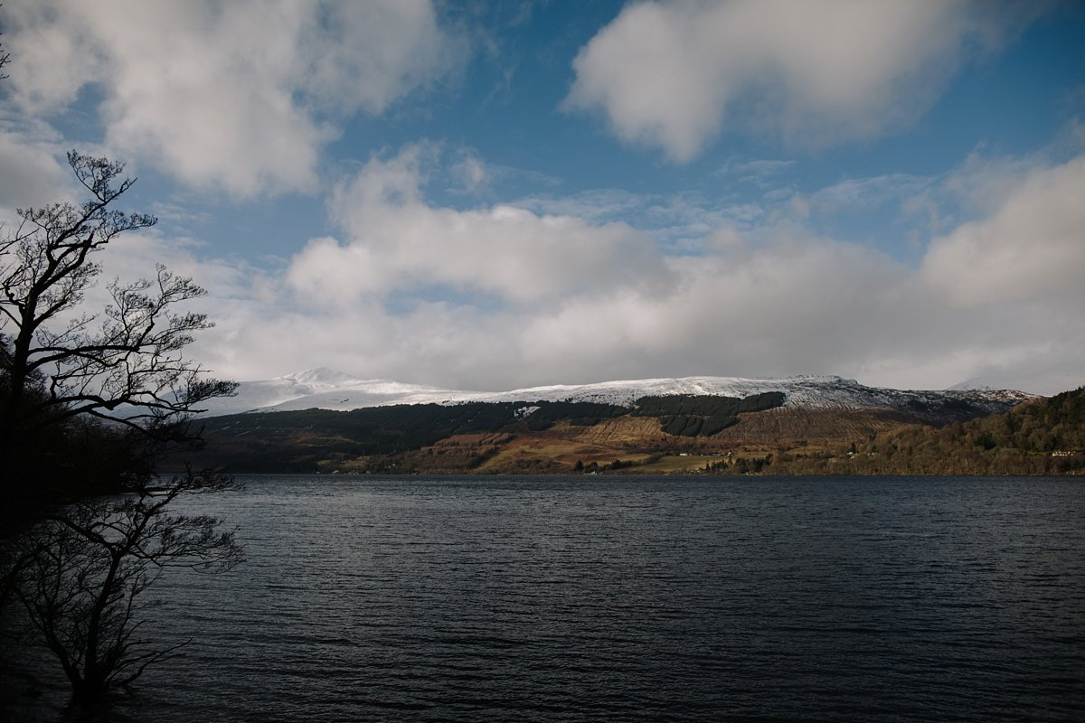 views from the oyster boathouse on loch tay