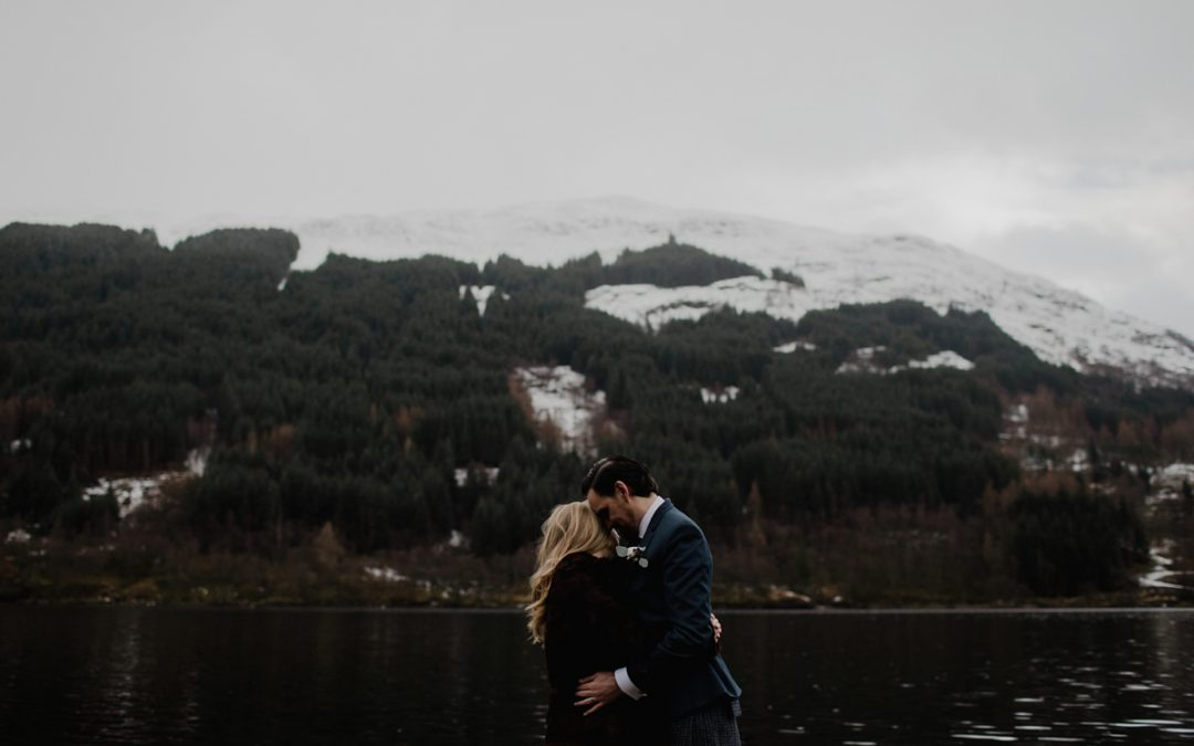 Intimate Monachyle Mhor Winter Elopement | Katie and Steven