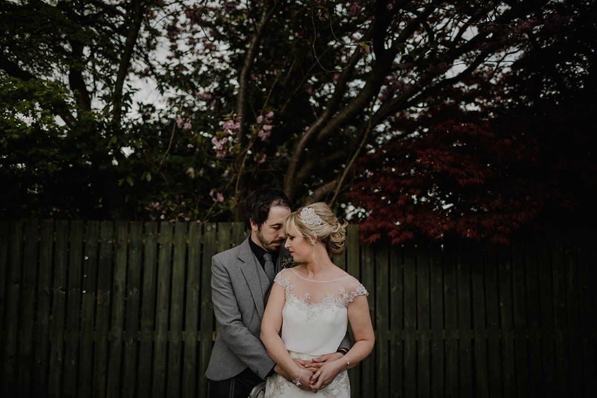 bride and groom portraits, wedding at the cruin loch lomond