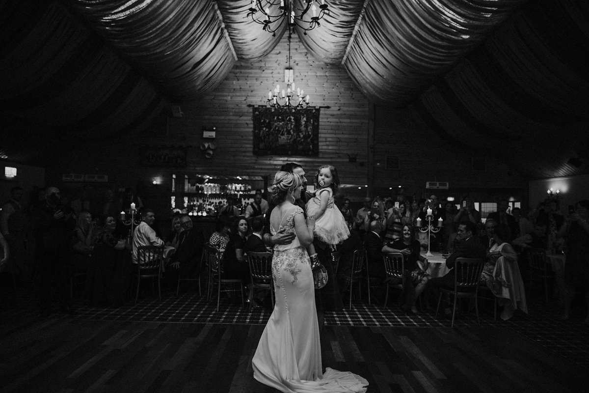 first dance with baby wedding at the cruin loch lomond