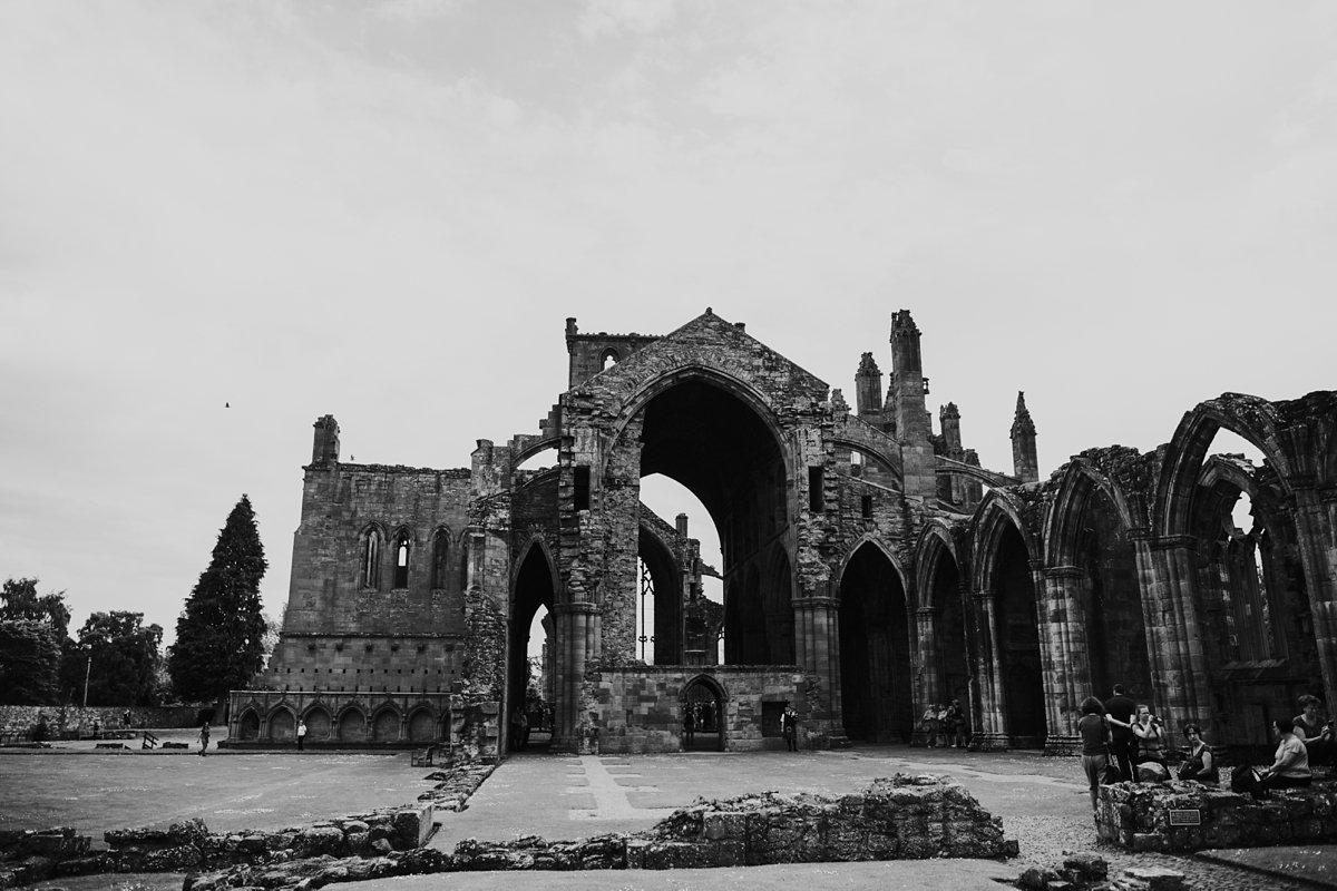 Melrose Abbey ruin