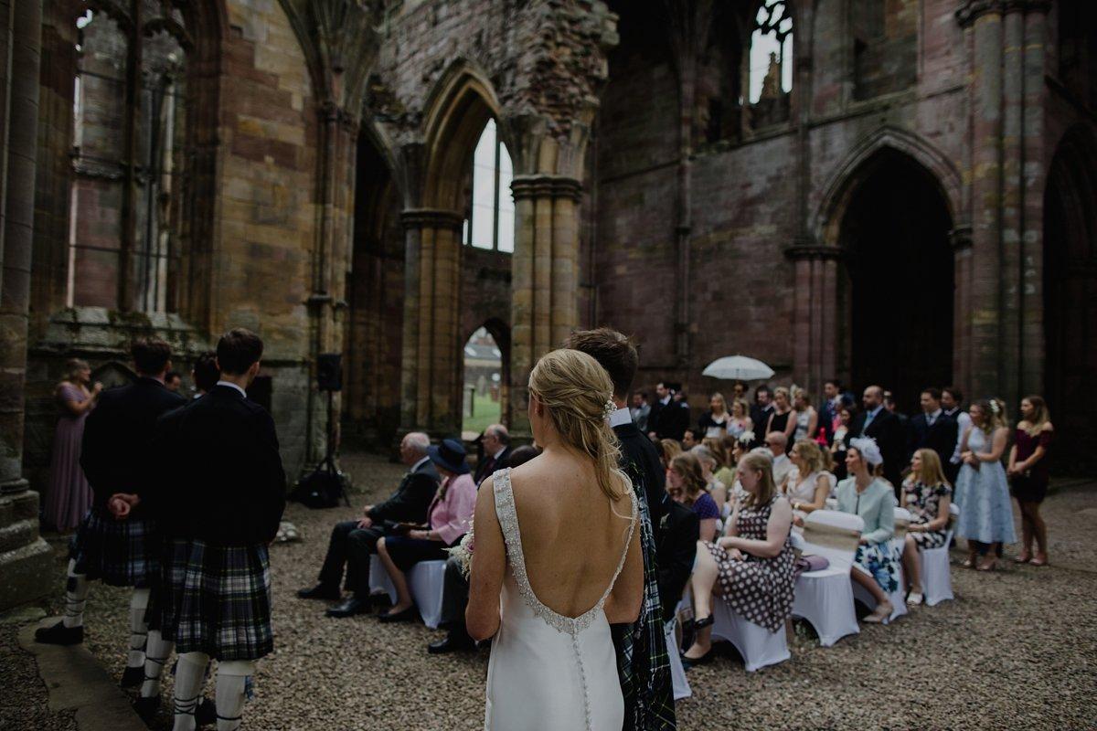 wedding ceremony at melrose abbey