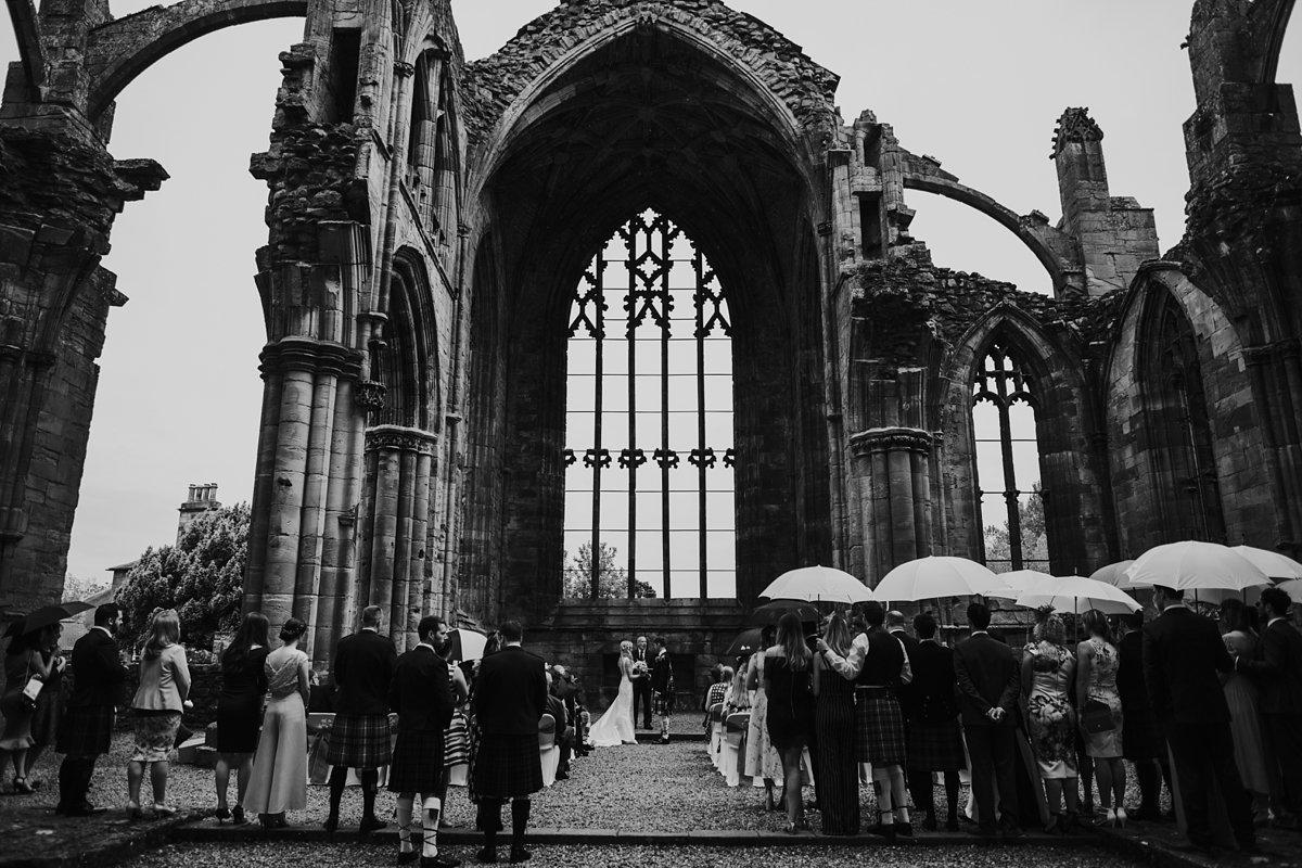 Melrose Abbey wedding ceremony