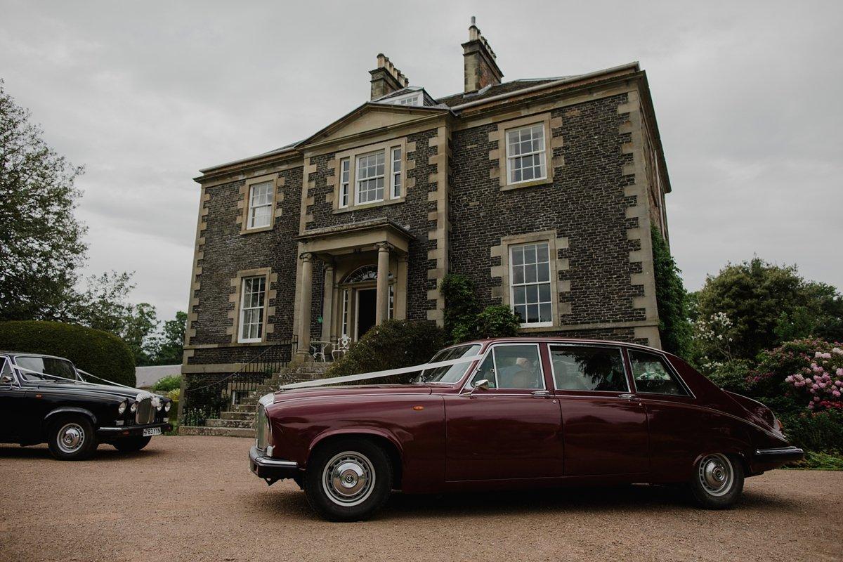 wedding cars outside harmony house