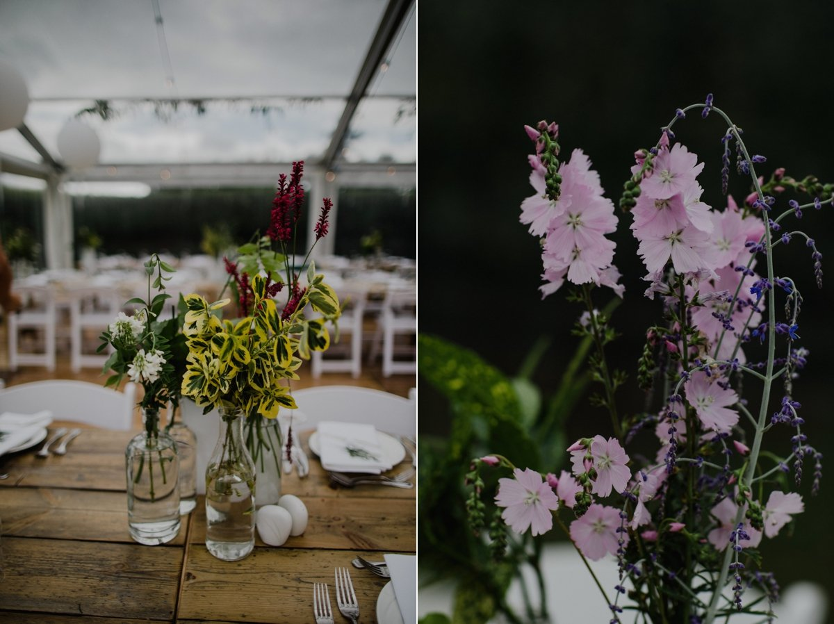 simple rustic wedding decorations wedding greenery and flowers