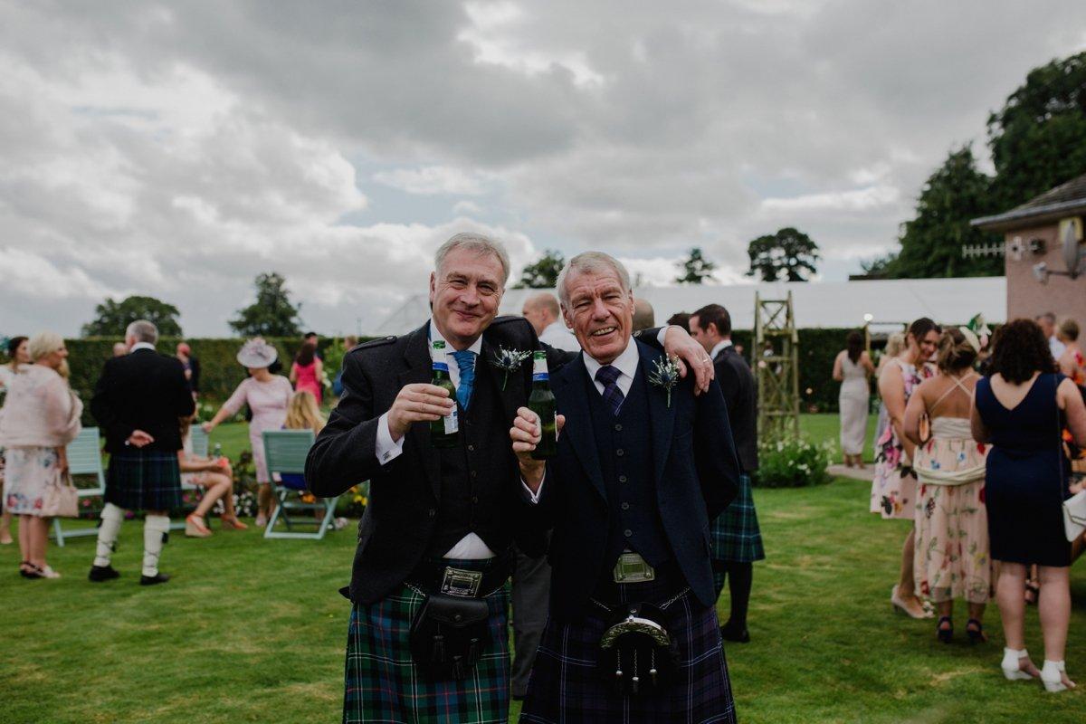 guests enjoying the garden wedding reception