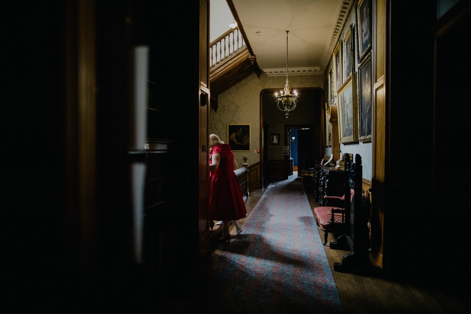 view down the hall in cambo house