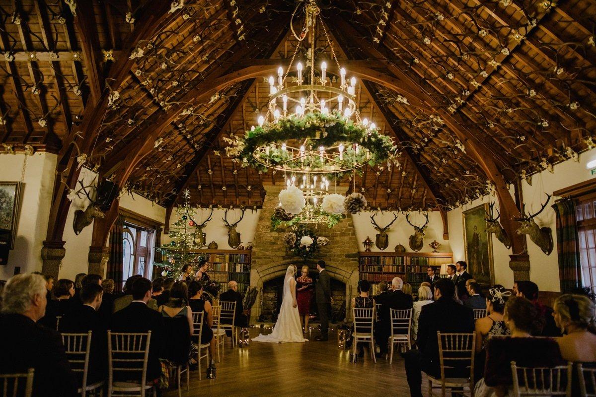 Wedding Ceremony at Glen Tanar Ballroom
