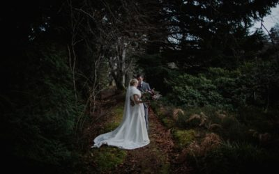 Snow dusted winter wedding at Glen Tanar Ballroom | Jessica and Cameron