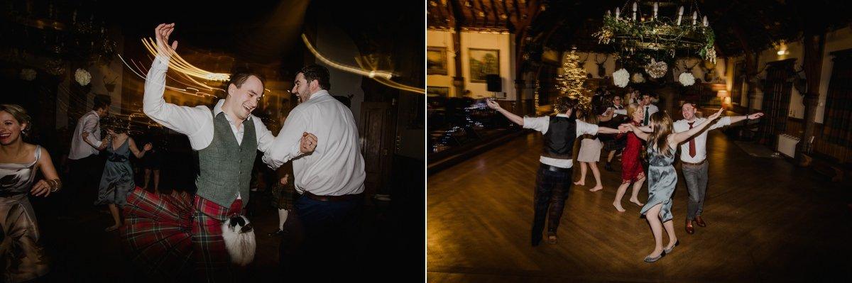 Guests dancing at Glen Tanar Ballroom