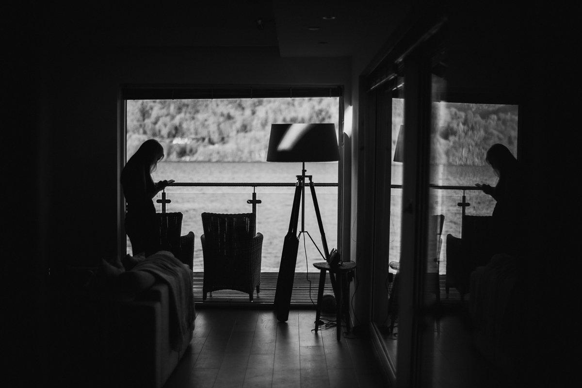 Inside the Oyster boathouse in Loch Tay