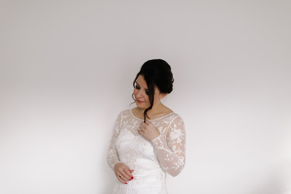 Portrait of bride ready for the ceremony
