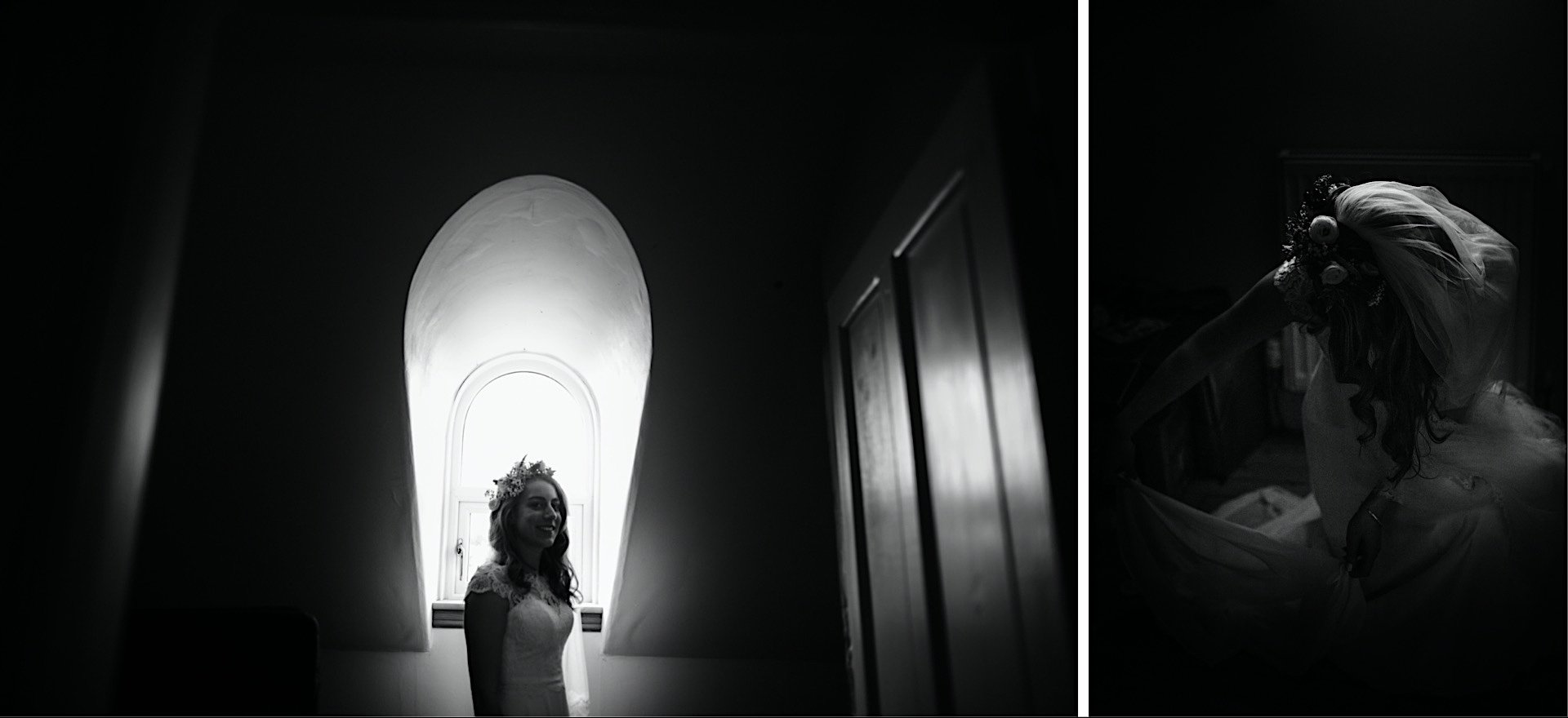 bride in Window lit