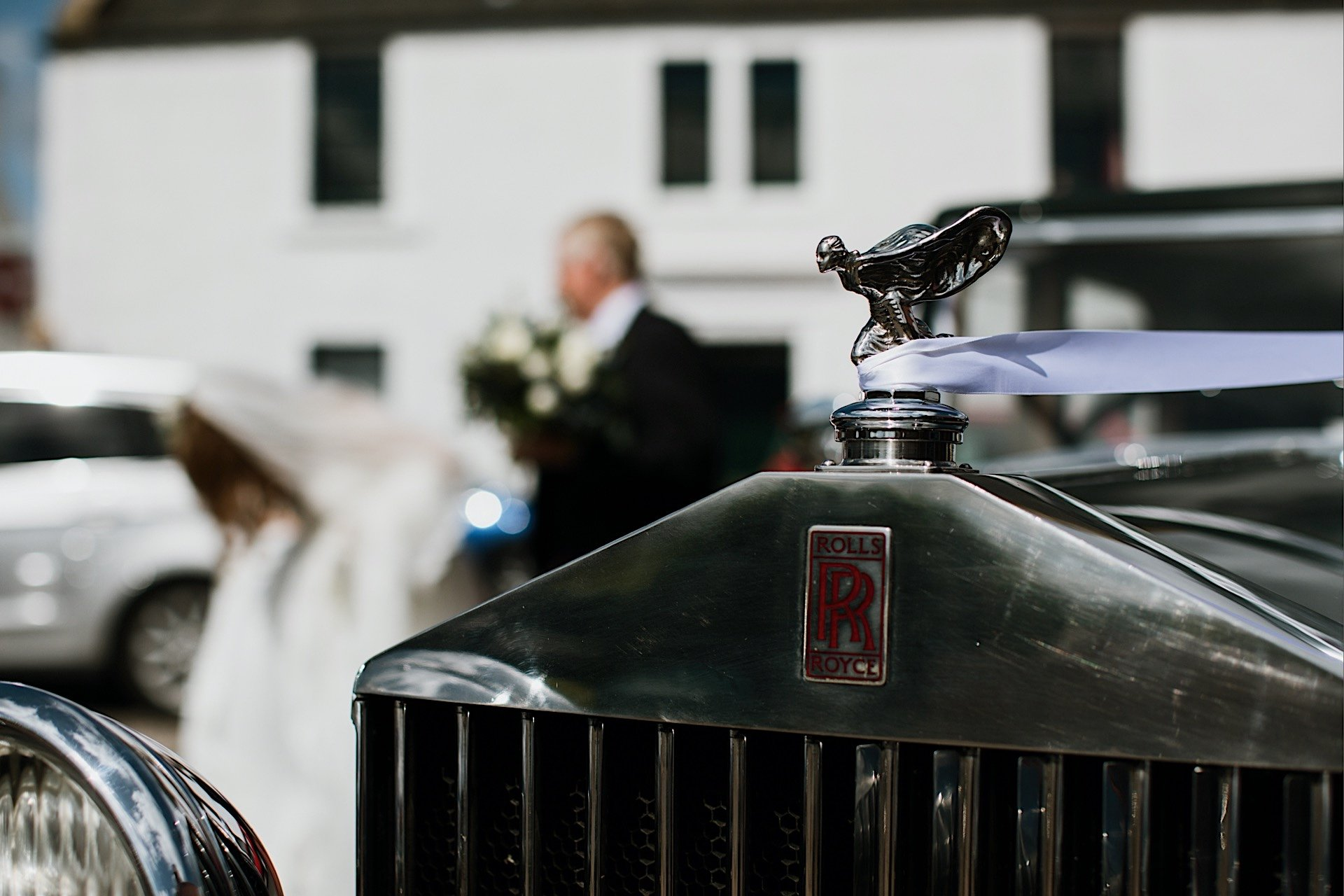 Ribbon detail With Rolls Royce Wedding