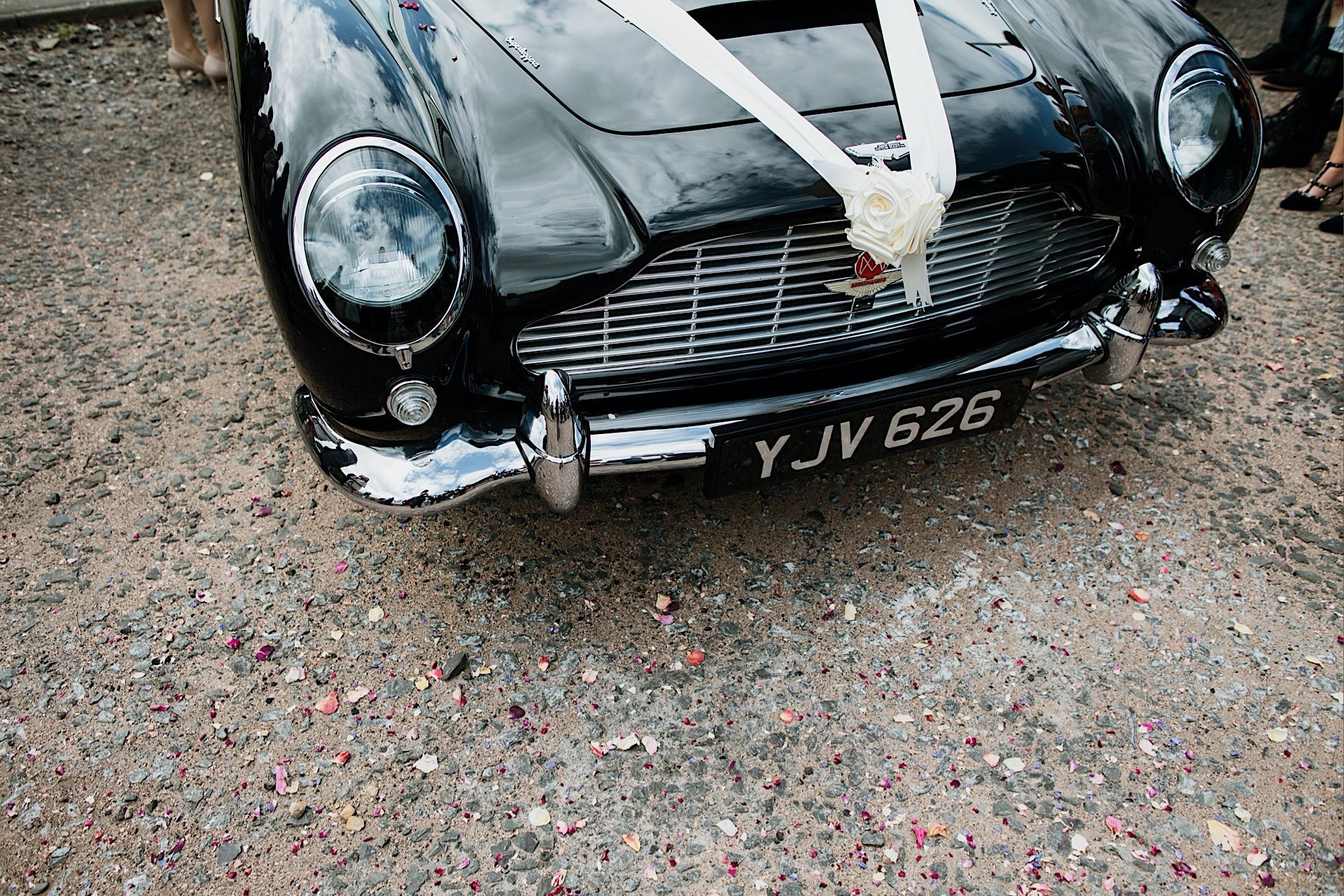 martin of Ribbon and aston Wedding confetti With closeup dB5 vintage