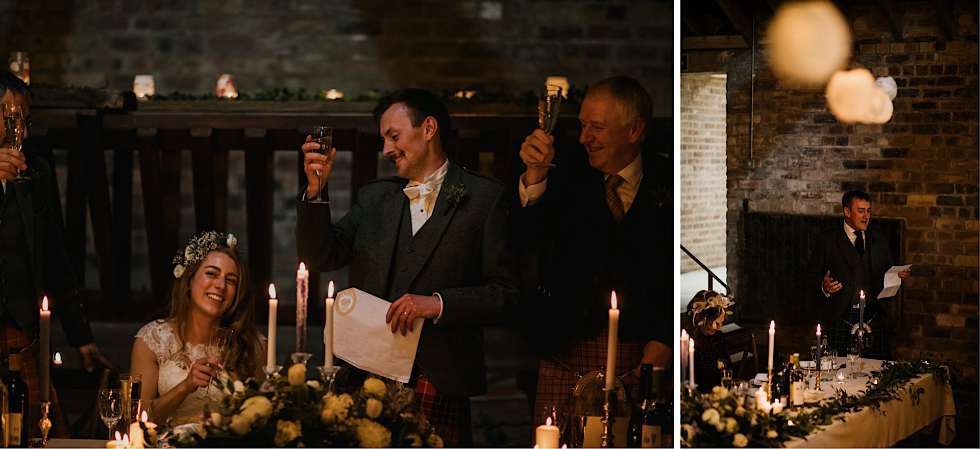 bestman toasting bride giving speech Rhynd at the groom