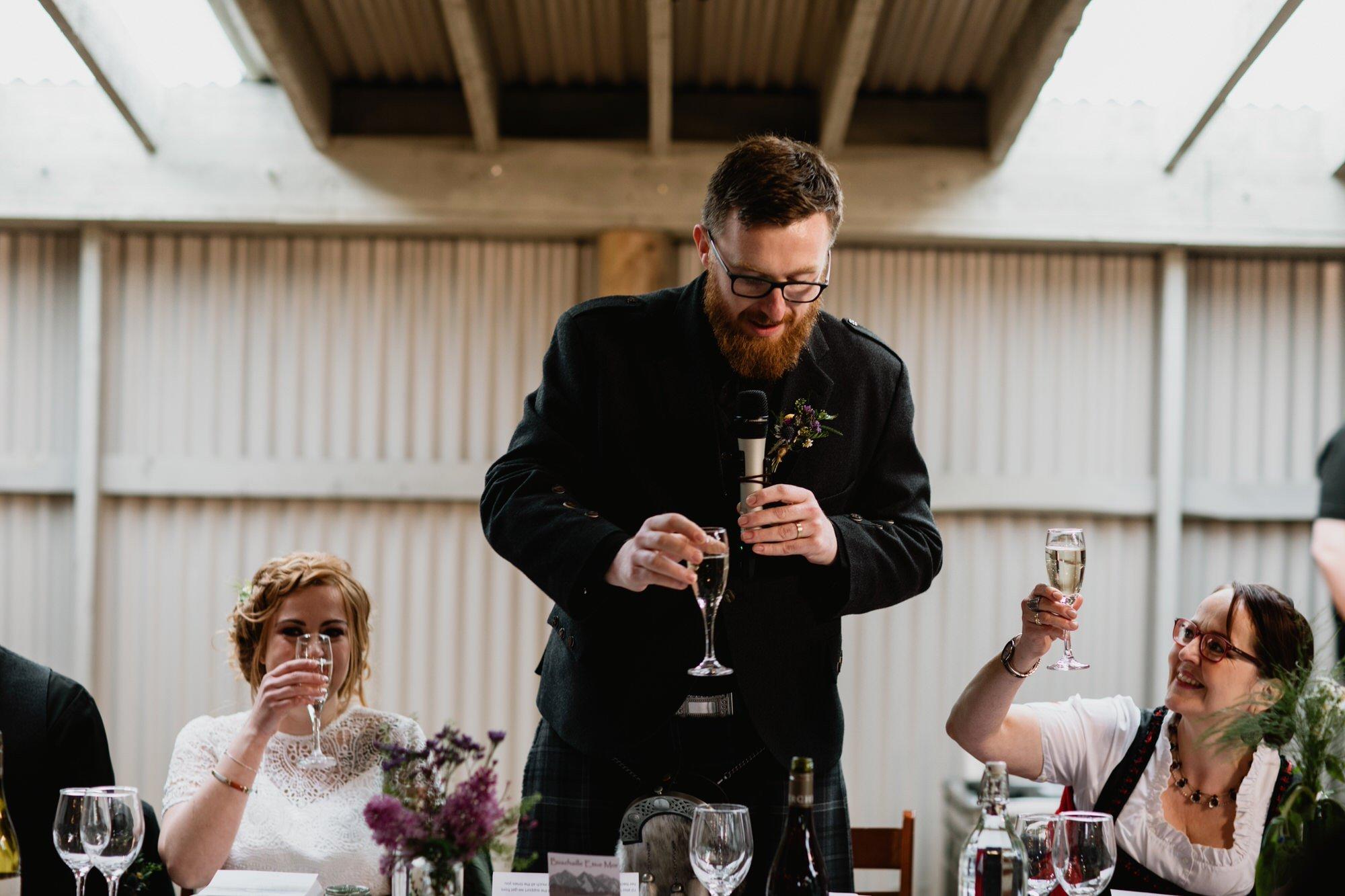 043 TIN SHED KNOCKRAICH WEDDING AUSTRIAN SCOTTISH ZOE ALEXANDRA PHOTOGRAPHY