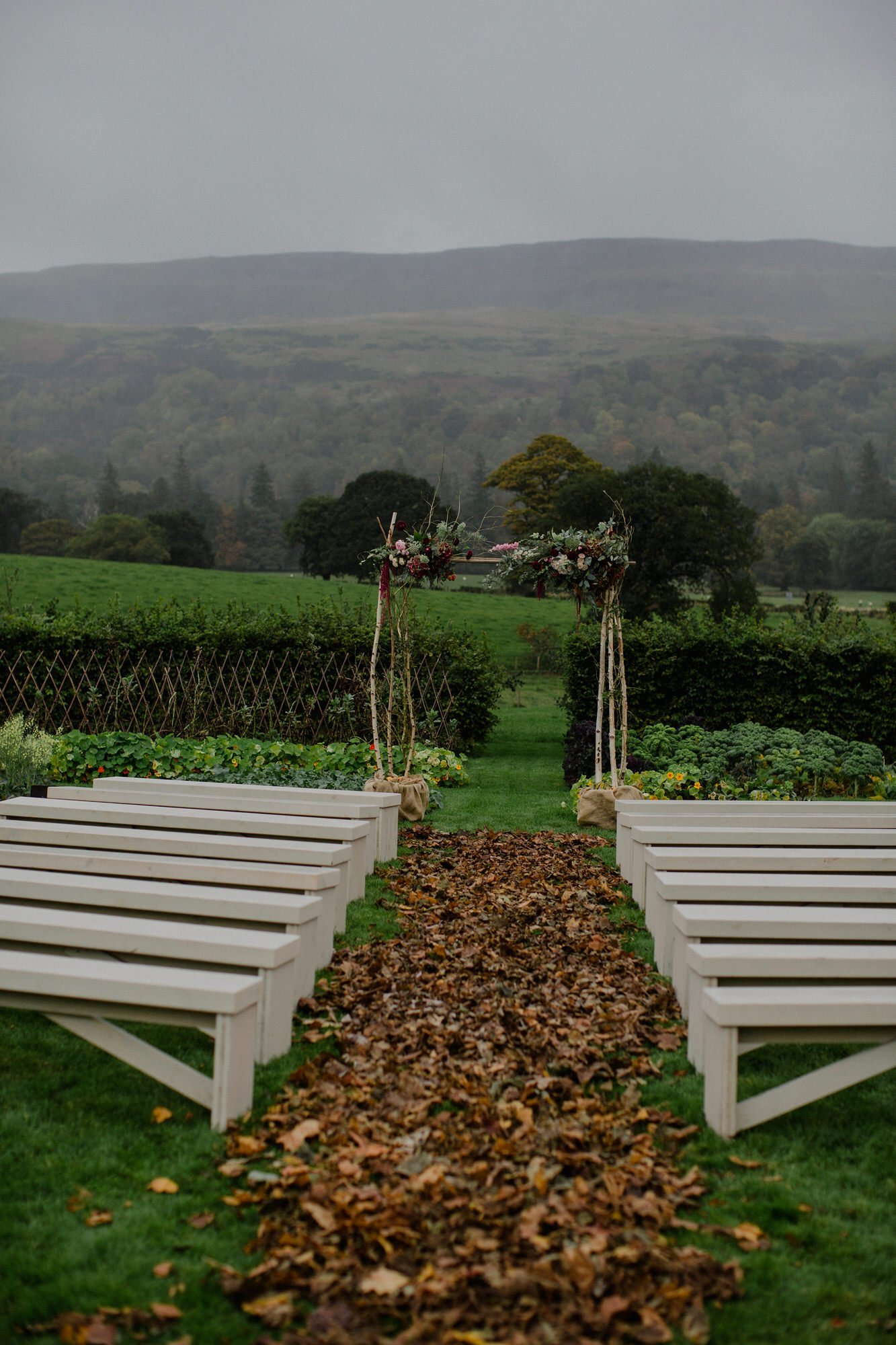 015 TIN SHED KNOCKRAICH FARM WEDDING OUTDOOR CEREMONY FLORAL ARCH BRIDE ZOE ALEXANDRA PHOTOGRAPHY