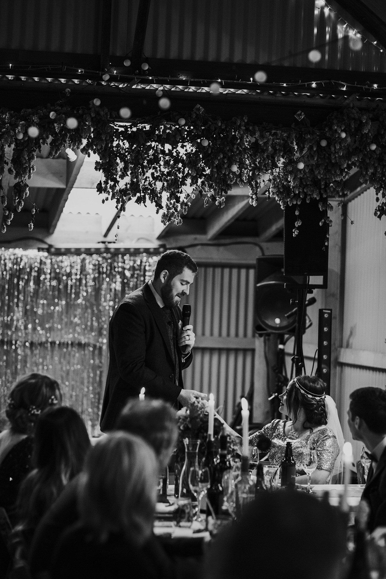 063 TIN SHED KNOCKRAICH FARM WEDDING SPEECHES ALTERNATIVE BRIDE ZOE ALEXANDRA PHOTOGRAPHY