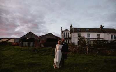 Autumn Wedding at the Tin Shed at Knockraich Farm with Spectacular Golden Hour