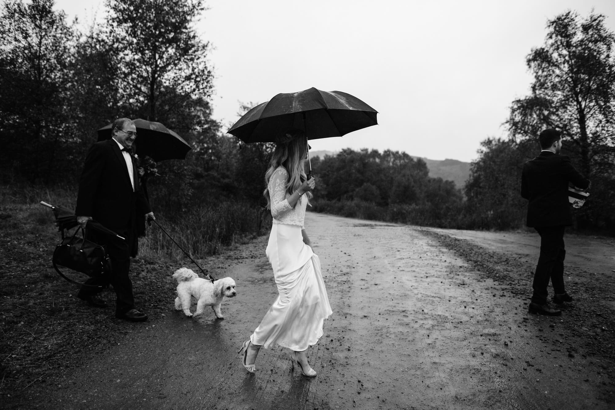 LOCH DRUNKIE TROSSACHS STIRLING ELOPEMENT WEDDING DOG ZOE ALEXANDRA PHOTOGRAPHY