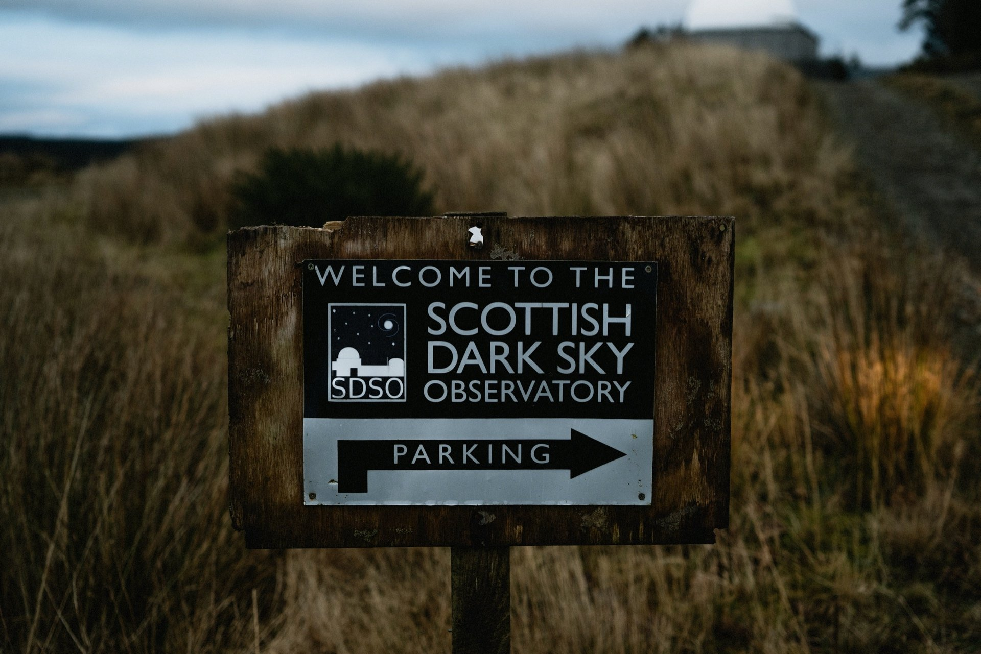 sign for the scottish dark sky observatory