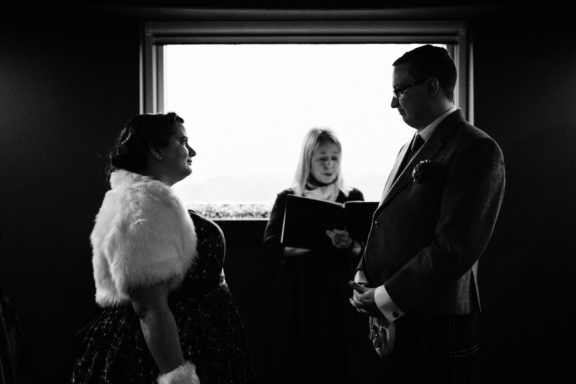 humanist wedding ceremony at the dark sky observatory