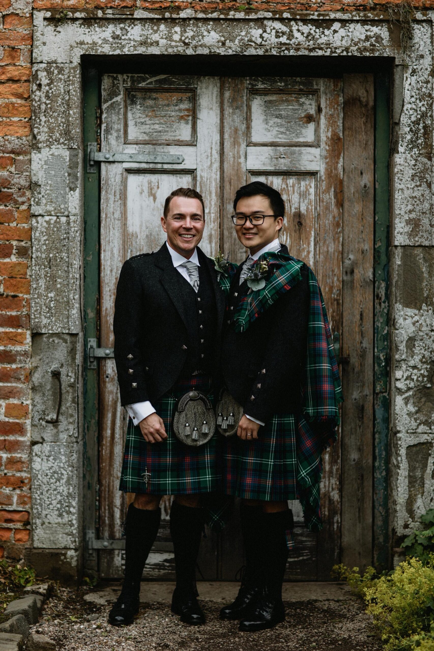 grooms scottish kilts byre inchyra garden walled