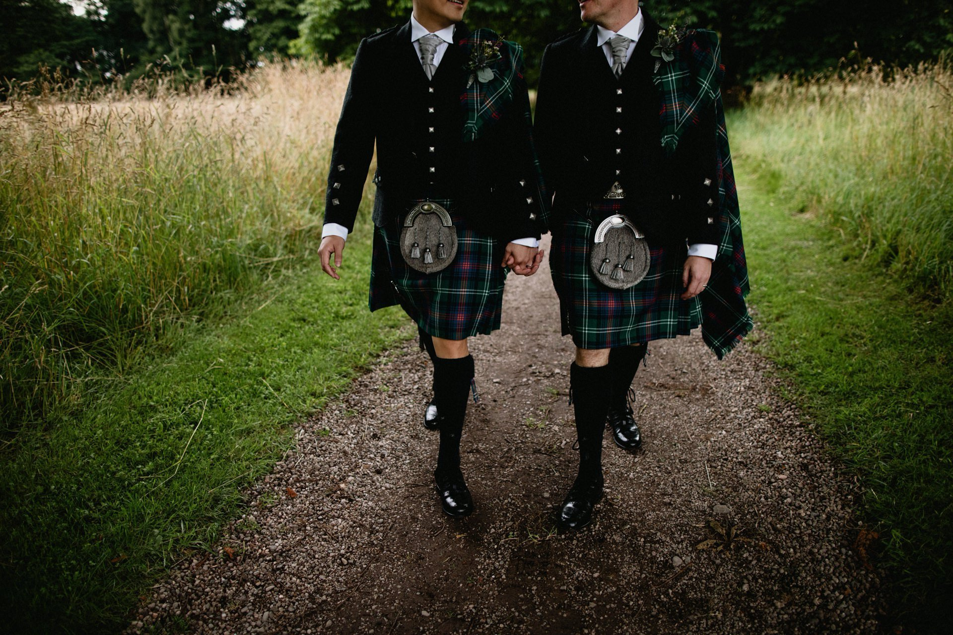 wedding kilts grooms scottish byre inchyra wedding
