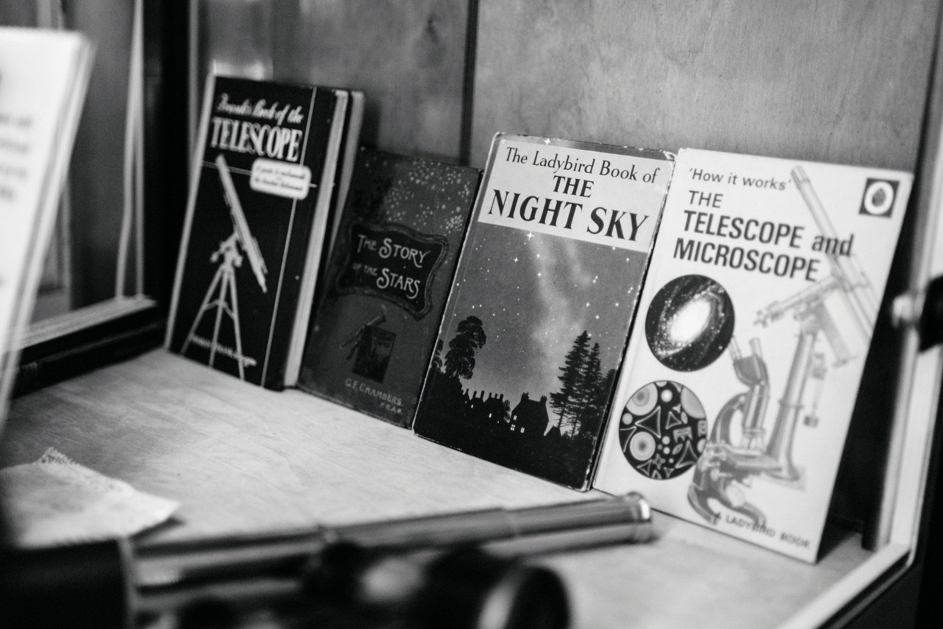 vintage night sky books at the dark sky observatory