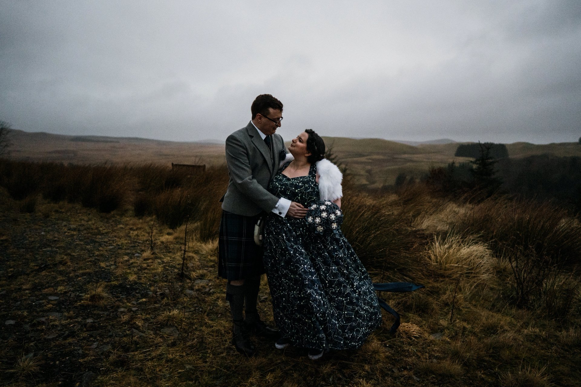 Scottish Dark Sky Observatory Celestial Wedding dress